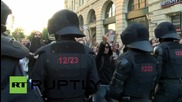 Germany: LEGIDA and PEGIDA supporters hold joint march in Leipzig