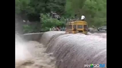 Безумен шофьор на автобус.