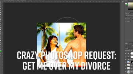 Photoshop Timelapse: Change my bridal photo post-divorce