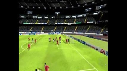 Fifa 10 - Късметлийски гол на Mauro Camoranesi