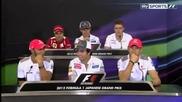 Формула1 - Япония 2012 - Пресконференция на Пилотите - Sky Sports F1