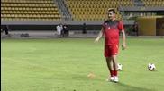 Гигов измори своите на тренировката преди мача