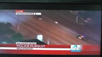 Полицейско преследване по телевизията с наистина неочакван край
