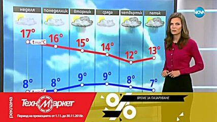 Прогноза за времето (03.11.2018 - централна емисия)