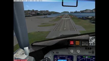 fsx boeing 737 - 800 кацане в Хонг Конг - Kai Tak