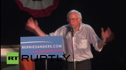 USA: Bernie Sanders slams Republican Party at Iowa rally