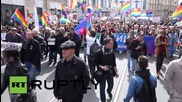 Russia: LGBT supporters join May Day protests in St.Petersburg