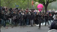 France: Stones and firecrackers fly as arrests made during Paris protest
