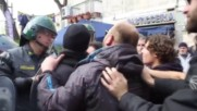 Italy: Protesters clash with police during Matteo Renzi's visit to Naples