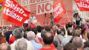 Italy: Leftists hold protest in Florence against upcoming referendum