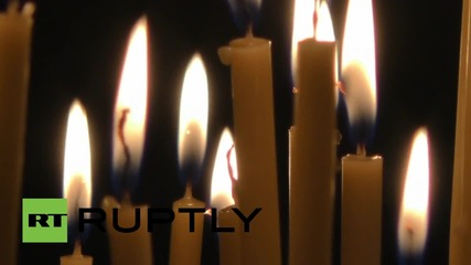 Germany: Night Wolves pray in Orthodox Cathedral of Berlin