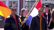 Netherlands: Protesters chant 'Merkel must leave' as she drives to awards