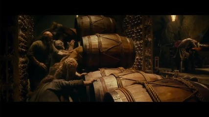 The Hobbit Desolation Of Smaug - Into The Barrels