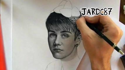 Страхотна рисунка на Джъстин Бийбър!!