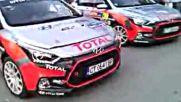 На почетната стълбичка - Симеон Симеонов/Димитър Спасов - Hyundai Racing Trophy на рали Сърбия