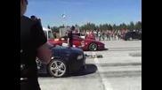 Audi S2 Coupe 5cyl Vs Nissan 300zx V6 1/4mile drag race