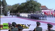 China: Premier Li Keqiang welcomes Merkel to Beijing with military honours