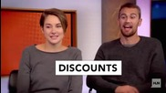 Divergent Shailene and Theo at ' Yes, no, or meh! '
