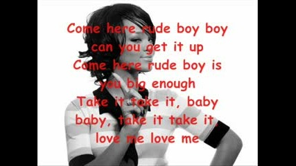 - Rihanna - Rude boy lyrics