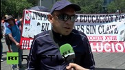 Mexico: Thousands of teachers march with fury against education reforms