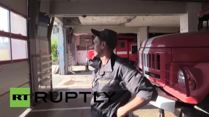 Ukraine: Donetsk fire station damaged after heavy shelling