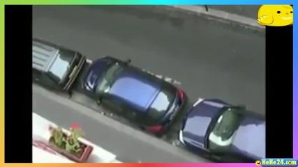 Компилация от смешни опити за паркиране на автомобили.