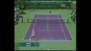 Miami 2008 : Федерер - Акасусо - 2 Сет