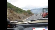 С москвича между черногорско - албанската граница