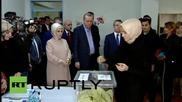 Президентът Реджеп Ердоган гласува на изборите в Турция