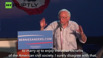 Bernie Sanders Slams Republican Party at Iowa rally