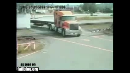 камион на жп.прелез