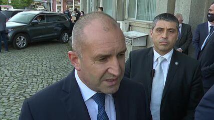 Радев: Проблемите няма да се решат чрез агресия над министрите