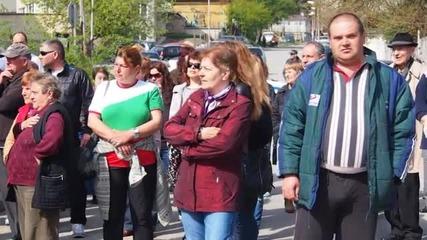 Протест против изграждането на социални жилища в Аспарухово