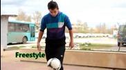 Freestyle Football Урок за начинаещи (crossover , Tatw) (bulgarian)