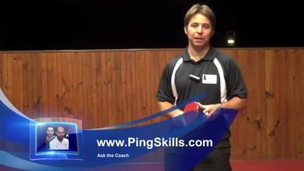 Уроци по тенис на маса - Разположение на краката