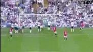 Ryan Giggs Страхотен гол от пряк свободен - Manchester United vs Tottenham 2009