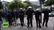 Germany: Anti-fascist protesters clash with Hamburg riot police