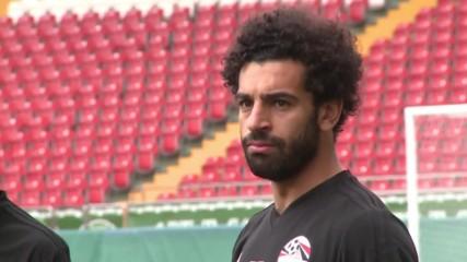 Мохамед Салах се присъедини към тренировката на Египет
