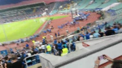 Левски - Лацио ! Избухване на почитната обиколка преди мача !!! 100 години Левски