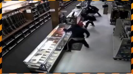 Крадци обират оръжеен магазин за по-малко от минута