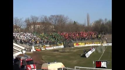 Хореографията на Ботев на стадион Славия
