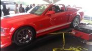 какво се случва, когато се опитат да измерят конските сили на едно Shelby Gt500! Дали е мощно а?!