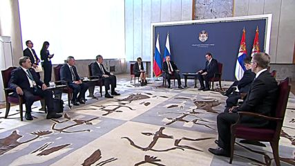 Serbia: Putin and Vucic discuss trade, bilateral ties in Belgrade