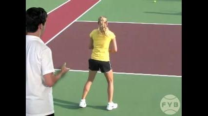 Тенис уроци : Форхенд | Завъртане на тялото и раменете