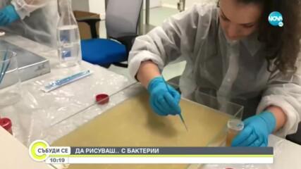 Изложба на млади творци, които рисуват с ... бактерии