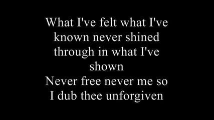 Metallica - The Unforgiven lyrics