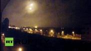 Неидентифицирани ярки светлини над летището в Донецк
