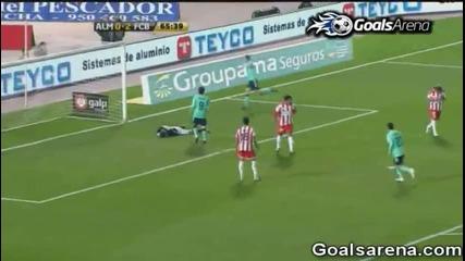 Алмерия 0 - 3 Барселона [02.02.2011] ( Всички голове )