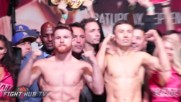 Canelo Alvarez Vs. Gennady Golovkin Weigh In And Face Off