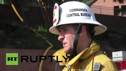 USA: L.A. Church goes up in flames in bush fire
